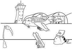 Flughafen-Laufbahn Stockbild