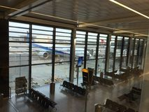 Flughafen Londons Heathrow Großbritannien-Grenze Stockfotos