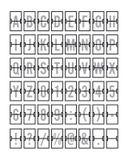 Flughafen mechanischer Flip Board Panel Font Lizenzfreies Stockfoto