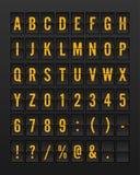 Flughafen mechanischer Flip Board Panel Font vektor abbildung