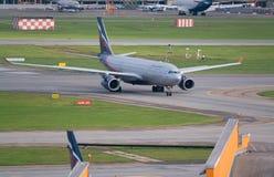Flughafen Moskaus, Sheremetyevo, Russland - 24. September 2016: Aeroflot - russische Fluglinien Airbus A330-243 VP-BLY mit einem  Lizenzfreie Stockfotografie