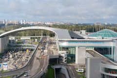 Flughafen Moskaus, Sheremetyevo, Russland - 24. September 2016: Anschluss D des internationalen Flughafens wurde im Jahre 2009 er Stockfotos