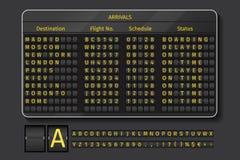 Flughafen- oder Eisenbahnvektoranzeigetafel Lizenzfreies Stockfoto
