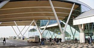 Flughafen Platov, errichtet für die Fußball-Weltmeisterschaft im Jahre 2018 Passe Lizenzfreies Stockbild