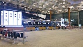 Flughafen-Plattformzähler Singapurs Changi Stockbild