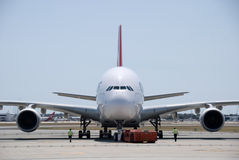 Flughafen Qantass A380 Perth Stockfoto