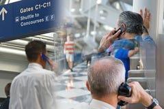 Flughafen-Reisen-Montage lizenzfreies stockfoto