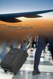 Flughafen-Reisen-Montage lizenzfreie stockbilder