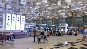 Flughafen Singapurs Changi überprüfen widerspricht herein Stockfoto