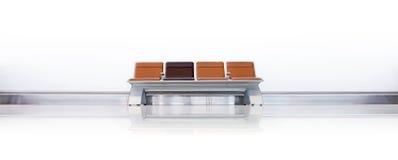 Flughafen-Sitz panoramisch Lizenzfreie Stockfotos