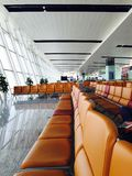 Flughafen, streetlife, iphone6, Noi Bai Airport, Vietnam Lizenzfreies Stockfoto