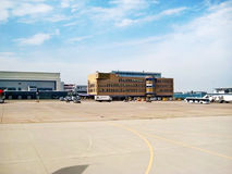 Flughafen Stuttgart, Deutschland lizenzfreies stockbild