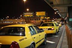 Flughafen-Taxi Stockbild