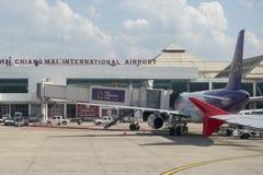 FLUGHAFEN THAILANDS CHIANG MAI Lizenzfreie Stockfotos