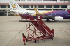 FLUGHAFEN THAILANDS CHIANG MAI Stockbild