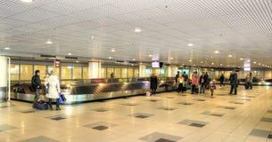 Flughafen von Domodedovo Hall der Lieferung des Gepäcks Stockfotos