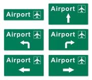 Flughafen-Zeichen Stockfoto