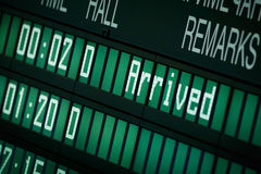 Flughafen-Zeitplan Stockfoto