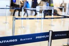 Flughafenabfertigungs-Geschäftsprämie Stockfoto
