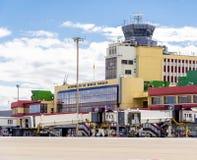 Flughafenabfertigungsgebäude-Gebäude Madrids Barajas Lizenzfreies Stockbild