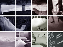 Flughafenambiente lizenzfreie stockbilder