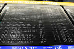 Flughafenannullierung Stockfoto