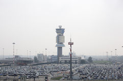 Flughafenautoparken Lizenzfreies Stockfoto