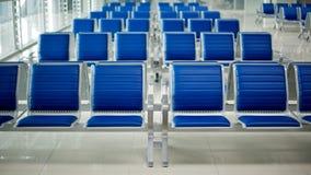 Flughafenbank stockfotografie