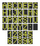Flughafenbrettbuchstaben Lizenzfreie Stockfotos