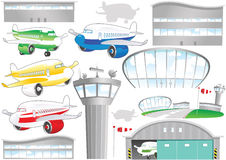 Flughafenelemente Stockfoto