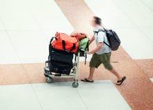 Flughafenfluggast Stockfotos