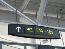 Flughafengatterzeichen Stockbild