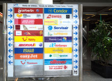 Flughafeninformationsbrett Lizenzfreies Stockbild