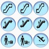 Flughafeninformationstasten Lizenzfreies Stockfoto