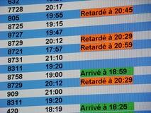 Flughafeninformationsvorstand Stockfotografie