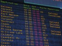 Flughafeninformationsvorstand Stockfoto