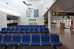 Flughafeninnenraum in Malmö Lizenzfreies Stockfoto