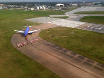 Flughafenlandung lizenzfreie stockbilder