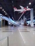 Flughafenmacedonia-Tageslicht lizenzfreie stockfotografie