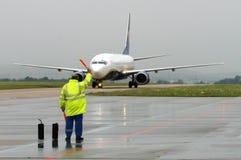 Flughafenmaterial Stockfotografie