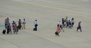 Flughafenmenge in Hai Phong, Vietnam Stockfotografie