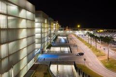 Flughafenparkplatz stockfoto