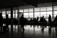 Flughafenpassagier depature Aufenthaltsraum stockfotografie