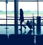 Flughafenreise Stockfoto