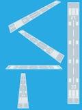 Flughafenrollbahn stock abbildung