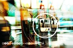Flughafenszenen - Lohntelefon Stockfotos