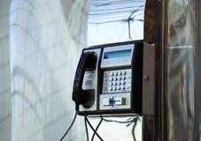 Flughafentelefon Stockbild