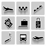 Flughafenvektor-Ikonensammlung Stockfotografie