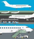Flughafenvektorsatz Lizenzfreie Stockfotografie