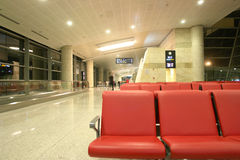 Flughafenwarteaufenthaltsraum Stockfotos